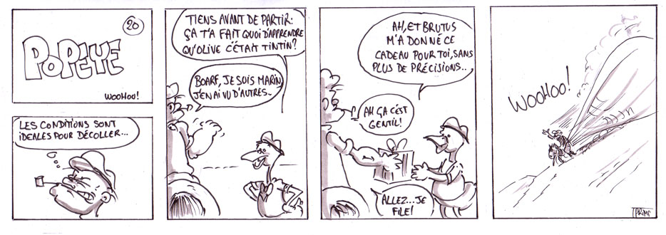 Dessin, BD : Popeye : Hommage posthume